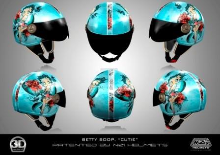 CASCO NZI 3D VINTAGE II CUTIE BETTY BOOP